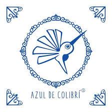 logo azul de colibri
